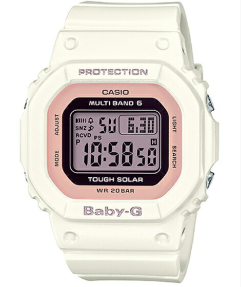 BABY-G ベビーG ベビージー カシオ CASIO 電波 ソーラー デジタル 腕時計 ピンク ホワイト BGD-5000-7DJF【国内正規モデル】【あす楽】