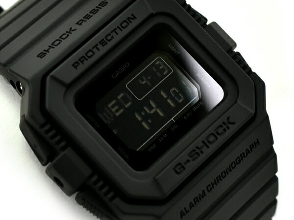 G-SHOCK Gショック ジーショック カシオ CASIO 5500 限定モデル 逆輸入海外モデル デジタル 腕時計 オールブラック DW-D5500BB-1DR DW-D5500BB-1【あす楽】