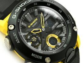 G-SHOCK Gショック ジーショック 逆輸入海外モデル カーボンコアガード カシオ CASIO アナデジ 腕時計 ブラック イエロー GA-2000-1A9ER GA-2000-1A9【あす楽】