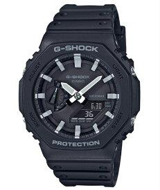 カシオーク 限定モデル G-SHOCK Gショック ジーショック 逆輸入海外モデル カシオ CASIO アナデジ 腕時計 ブラック ホワイト GA-2100-1A