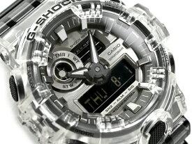 G-SHOCK Gショック 逆輸入海外モデル 限定モデル カシオ アナデジ 腕時計 ブラック グレー クリアスケルトン GA-700SK-1A