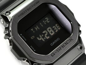 G-SHOCK Gショック ジーショック 5600 メタル 逆輸入海外モデル CASIO カシオ デジタル 腕時計 オールブラック GM-5600B-1
