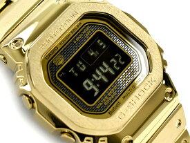 [予約商品 10月下旬入荷予定]G-SHOCK Gショック ジーショック 35周年記念 限定モデル フルメタル 5000 日本製 逆輸入海外モデル カシオ CASIO スマートフォンリンク 電波ソーラー デジタル 腕時計 ゴールド ブラック GMW-B5000GD-9ER GMW-B5000GD-9