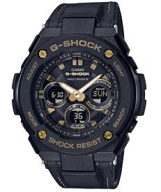 G-SHOCK Gショック ジーショック G-STEEL ジースチール カシオ CASIO 電波 ソーラー アナデジ 腕時計 ブラック ゴールド GST-W300GL-1AJF【国内正規モデル】【あす楽】