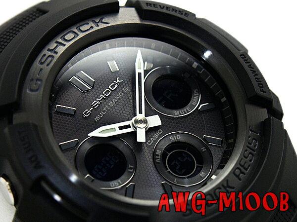 G-SHOCK Gショック ジーショック 逆輸入海外モデル カシオ 電波ソーラー 腕時計 AWG-M100B-1ADR AWG-M100B-1A オールブラック【ポイント2倍!!+送料無料!】