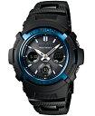 d57bff8495668 Casio G divers watch radio solar whole blue black AWG-M100BC-2AJF