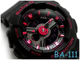 凱西歐寶貝-g 凱西歐嬰兒 G 有限的模型海外進口模型類比數位手錶黑粉紅色壩-111-1ADR BA-111-1 A