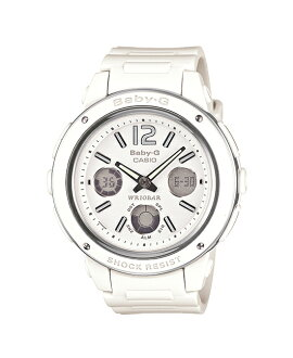 + Casio baby G watches baby g baby-g ベビージー Big Case series is an analog-digital white BGA-150-7BJF