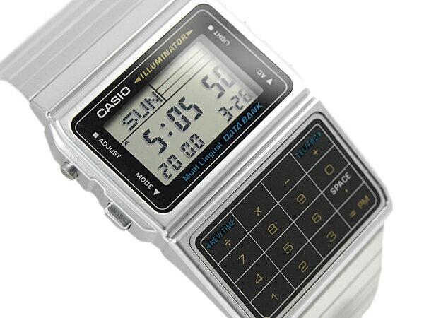 CASIO DATABANK カシオ データバンク 電卓機能 デジタル腕時計 逆輸入海外モデル シルバー ブラック DBC-611-1DF DBC-611-1