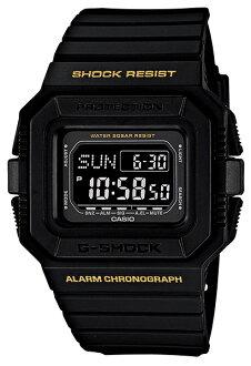 卡西歐G打擊CASIO G-SHOCK全部黑色數碼手表DW-D5500-1BJF