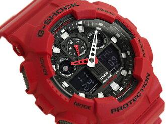 """+ CASIO Casio g-shock G shock """"an analog-digital watch black red GA-100B-4ADR GA-100B-4"""