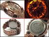 """凱西歐 g 震撼凱西歐 G 衝擊""""反向海外瘋狂黃金瘋狂黃金有限模型類比數位手錶的玫瑰金嘎-100GD-9ACR GA-100GD-9A"""
