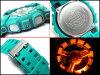 凱西歐重新導入 G 衝擊海外型號數位手錶涼風習習顏色 ブリージーカラーズ 翡翠藍聚氨酯皮帶 GA-110SN-3ADR