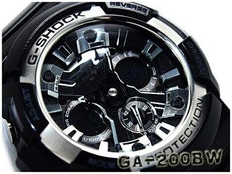 역수입 해외 모델 카시오 G쇼크 Garish Black 가릿슈브락크아나데지 손목시계 블랙×실버 GA-200 BW-1 ADR