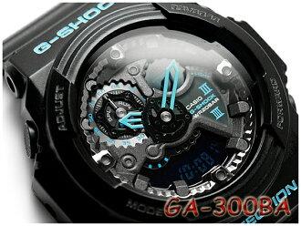 凱西歐 g-shock 反向海外模型藍黑色 x 系列類比數位手錶黑藍色 GA 300BA 1ACR GA 300BA 1ADR GA-300BA-1A