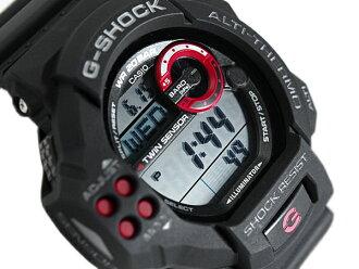 G 休克 6600 g 衝擊凱西歐凱西歐雙感應器與數位看黑紅色 GDF-100-1 A GDF-100-1ADR