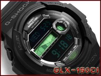 凱西歐 G 衝擊 30 周年有限的模型 g-休克模型 チャンネルアイランドコラボ 數位 x 觀看黑色 / 綠色 GLX-150CI-1JR
