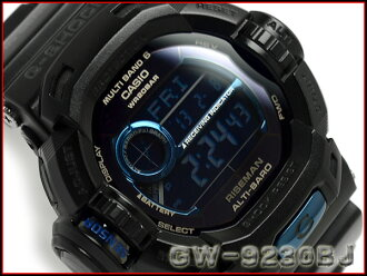 卡西歐G打擊30周年紀念限定lnitial Blue太陽能電波RISEMAN手表黑色×藍色GW-9230BJ-1JR upup7