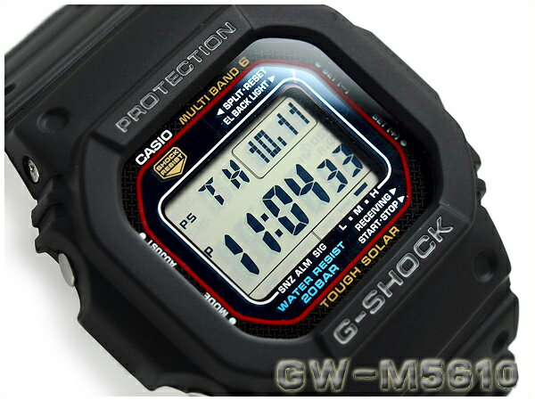 G-SHOCK Gショック ジーショック 逆輸入海外モデル カシオ 電波ソーラー 腕時計 GW-M5610-1ER GW-M5610-1