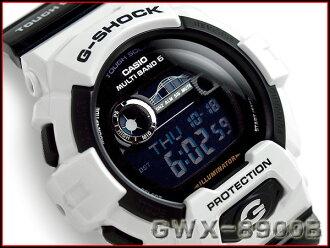 카시오 G 쇼크 G 타요 역 수입 해외 모델 전파 솔 러 타이 드 그래프 문 데이터 가진 디지털 남자 시계 화이트 × 블랙 GWX-8900B-7DR