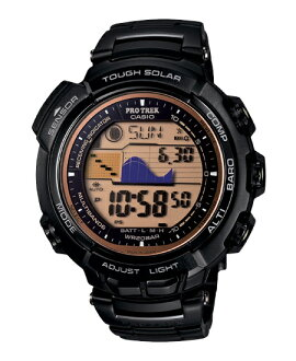 黑色 PRX-2500YT-1JF 保凱西歐 PRO 跋涉馬納斯盧峰收音機、 太陽能電子手錶