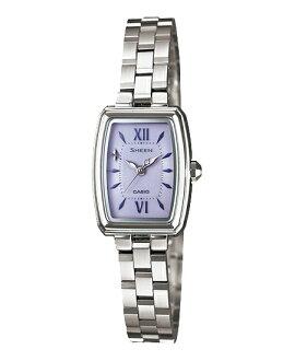 凱西歐場景女式手錶太陽能紫銀她-4504SBD-6AJF