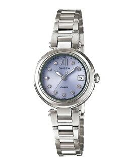 Casio scene Lady's watch electric wave solar purple silver SHW-1504D-6AJF