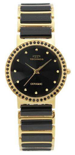 【在庫処分】【アウトレット時計】【訳あり】【テクノス】 TECHNOS/テクノス 薄型&軽量&セラミックスリム腕時計 メンズ 人気 T9175GB