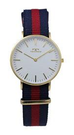 【訳あり:詳】【アウトレット時計】【正規品】【テクノス】【腕時計】TECHNOS/テクノス T6846GW 二針 ナイロンベルト 3気圧防水 腕時計 レディース ホワイト×ゴールド