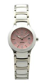【テクノス】【TECHNOS】【送料無料】【訳あり:A】【アウトレット】【正規品】【腕時計】TECHNOS/テクノス T6878WP セラミック&ステンレス 腕時計 レディース ピンク
