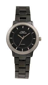 【テクノス】【TECHNOS】【送料無料】【訳あり:A】【アウトレット】【正規品】【腕時計】TECHNOS/テクノス T6899TB セラミックケース&ベルト 腕時計 レディース ブラック