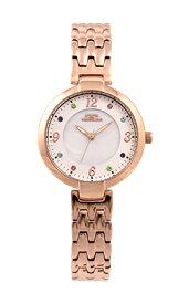 【テクノス】【TECHNOS】【送料無料】【訳あり:A】【アウトレット】【正規品】【腕時計】TECHNOS/テクノス T6901PW オールステンレス 腕時計 レディース ホワイト×ピンクゴールド