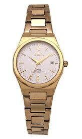 【テクノス】【TECHNOS】【送料無料】【訳あり:A】【アウトレット】【正規品】【腕時計】TECHNOS/テクノス T6911GS オールステンレス 腕時計 レディース シルバー ゴールド