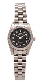 【テクノス】【TECHNOS】【送料無料】【訳あり:A】【アウトレット】【正規品】【腕時計】TECHNOS/テクノス T6912SB オールステンレス 腕時計 レディース ブラック