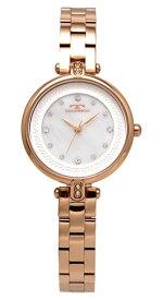 【テクノス】【TECHNOS】【送料無料】【訳あり:A】【アウトレット】【正規品】【腕時計】TECHNOS/テクノス T6913PW オールステンレス 腕時計 レディース ホワイト ピンクゴールド