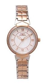 【テクノス】【TECHNOS】【送料無料】【訳あり:A】【アウトレット】【正規品】【腕時計】TECHNOS/テクノス T6915RW オールステンレス 腕時計 レディース ホワイト ピンクゴールド コンビベルト