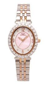 【テクノス】【TECHNOS】【送料無料】【訳あり:A】【アウトレット】【正規品】【腕時計】TECHNOS/テクノス T6916RP オールステンレス 腕時計 レディース ホワイト ピンク ピンクゴールド コンビベルト