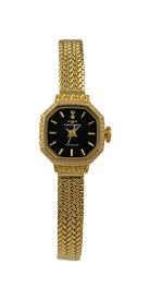 【テクノス】【TECHNOS】【送料無料】【訳あり:A】【アウトレット】【正規品】【腕時計】TECHNOS/テクノス T9894GB オールステンレス 腕時計 レディース ブラック×ゴールド