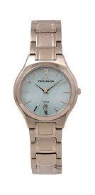 【テクノス】【TECHNOS】【送料無料】【訳あり:A】【アウトレット時計】【正規品】【テクノス】TECHNOS/テクノス T9873II チタン チタニウム 3針 カレンダー 腕時計 レディース アイスブルー