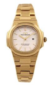 【テクノス】【TECHNOS】【送料無料】【訳あり:A】【アウトレット】【正規品】【腕時計】TECHNOS/テクノス T9902GW オールステンレス 腕時計 レディース ホワイト×ゴールド