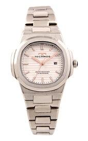 【テクノス】【TECHNOS】【送料無料】【訳あり:A】【アウトレット】【正規品】【腕時計】TECHNOS/テクノス T9902SW オールステンレス 腕時計 レディース ホワイト