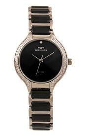 【テクノス】【TECHNOS】【送料無料】【訳あり:A】【アウトレット】【正規品】【腕時計】TECHNOS/テクノス T9905TB セラミック&ステンレス 三針 レディース ブラック