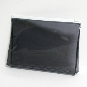 【メール便OK】抗菌 スライド ビニールポーチ Mサイズ ブラック【日本製】(約)タテ14×ヨコ20×マチ4cm トラベルポーチ 旅行 ポーチ ケース ペンケース 化粧ポーチ 小物入れ かわいい おしゃれ