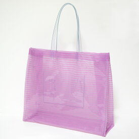 透明バッグ 肩掛けOK おしゃれ かわいい ストライプ ビニールバッグ Lサイズ ピンク 日本製 プールバッグ ビーチバッグ 温泉バッグ トートバッグ 社内バッグ クリアバッグ【RCP】