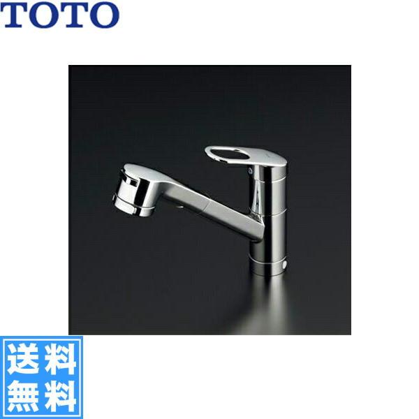 [TKGG32EBR]TOTOキッチン用水栓[シングルレバー混合栓][ハンドシャワータイプ]【送料無料】