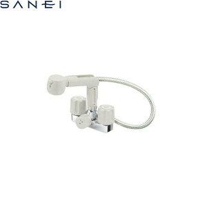 三栄水栓 SAN-EI ツーバルブスプレー混合栓(洗髪用)(ゴム栓なし)K3104K-LH 寒冷地仕様 送料無料
