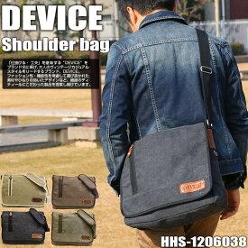 【ショルダーバッグ】DEVICE HHS-1206038 A4も収納できる、通勤・通学に大活躍!型押しレザーがワンポイント【ショルダーバック メッセンジャーバック 斜め掛け 人気 ブランド メンズ プレゼントにバッグ 財布 通販]