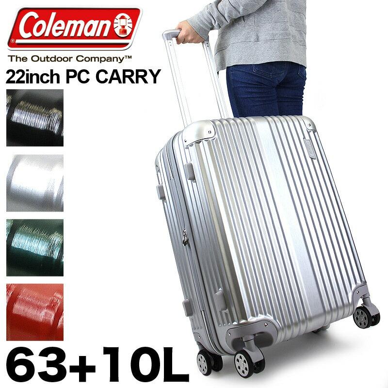 【新色追加】Coleman コールマン スーツケース キャリーバッグ キャリーケース 63+10L 3〜4泊 ファスナータイプ 拡張 4輪 ABS ポリカーボネート 旅行 トラベル 修学旅行 出張 TSAロック メンズ レディース 男女兼用 ブランド 14-60