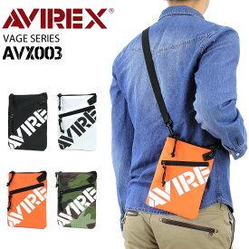 AVIREX アヴィレックス サコッシュ ショルダーバッグ 縦型 斜めがけバッグ メンズ レディース 男女兼用 べージ VAGE AVX003 サコッシュバッグ ポーチ 軽量 アビレックス