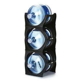 ユーウォーターボトルラック ブラック【U-shape5枚】ガロンボトル収納 ウォーターサーバー 水ボトル